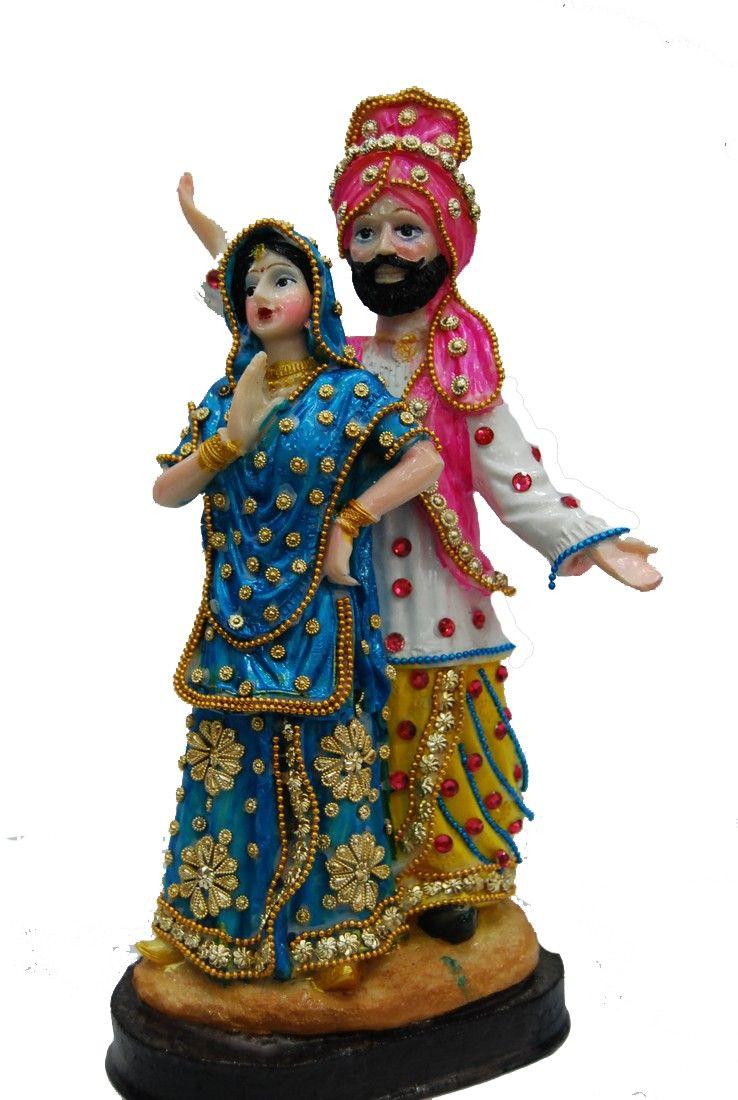 Kondapalli toys images  Punjabi bride and groom in traditional attire Price INR  Dolls