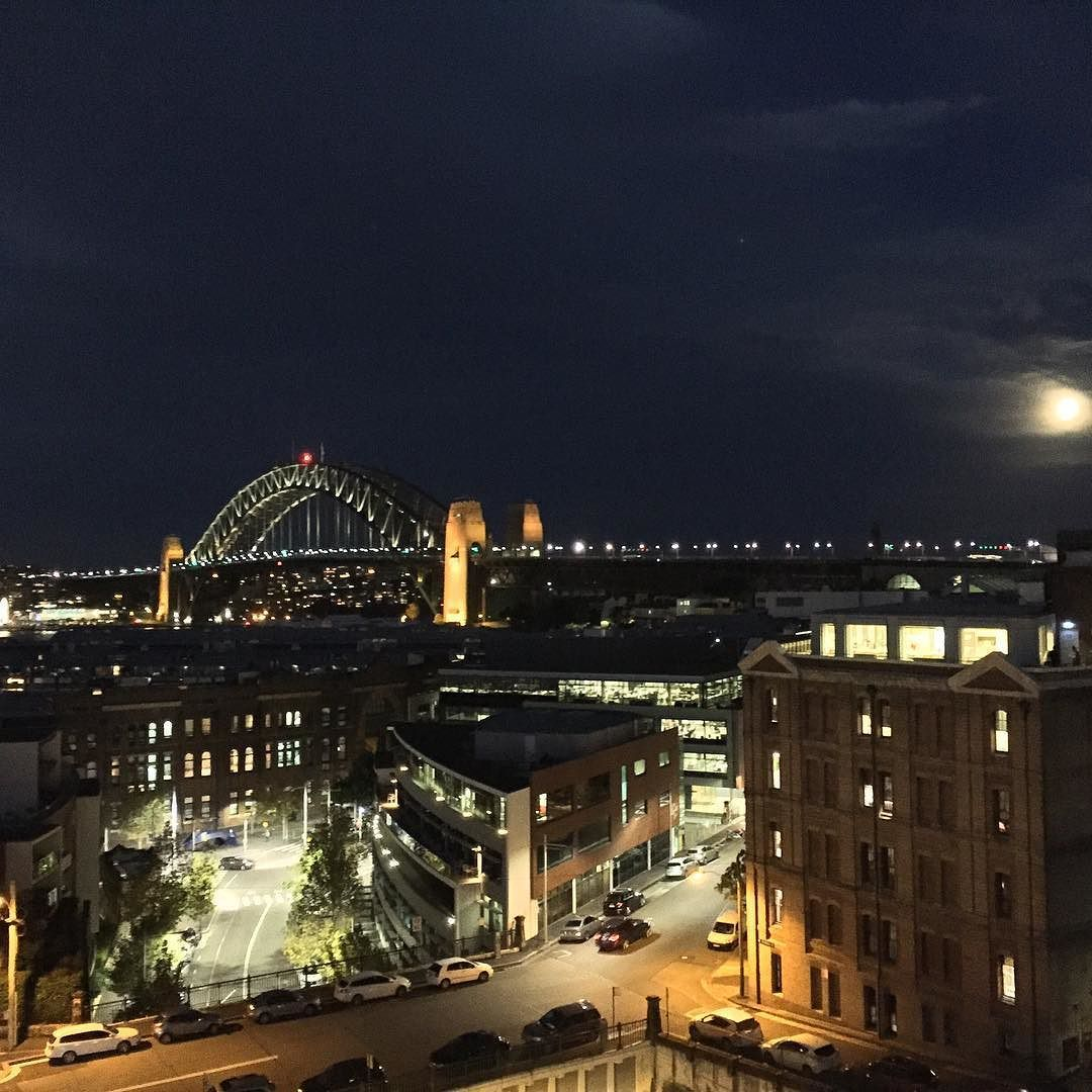 No filters necessary. View from @hotelpalisade with our good friend @johnnoverboard . #sydney #sydneyharbourbridge  I hope you made your flight Johnno by cathhostee http://ift.tt/1NRMbNv