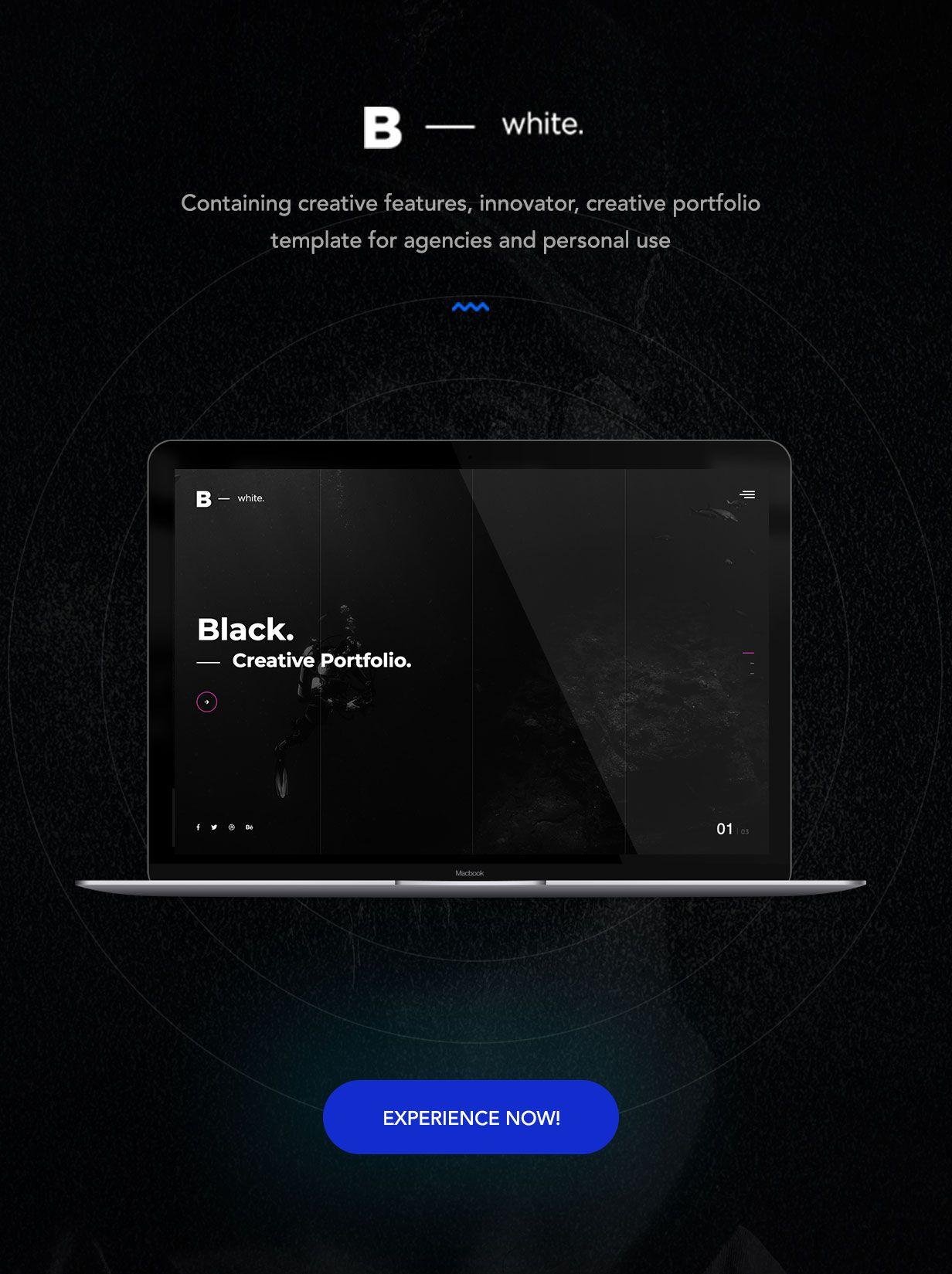 B  White - Creative Portfolio Template by soonlabs
