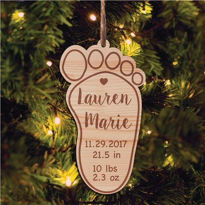 The Holiday Aisle New Baby Personalized Holiday Shaped Ornament Wayfair In 2020 Wood Christmas Ornaments Wooden Christmas Ornaments Wood Ornaments