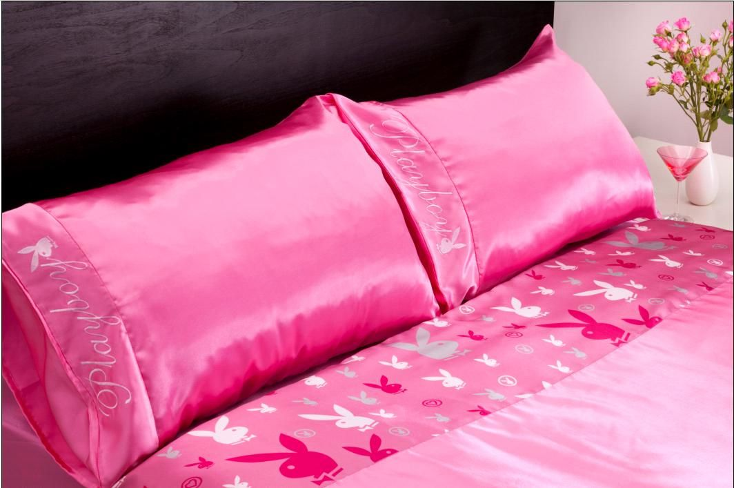 Pink Bunny Bed Set