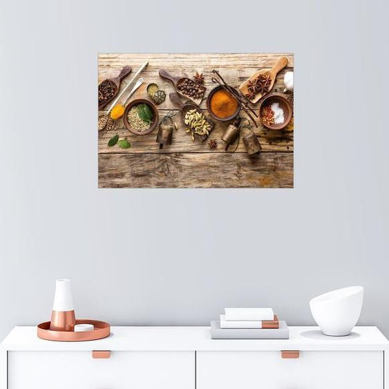 Posterlounge Wall Mural »Spices and Kitchen Utensils ...