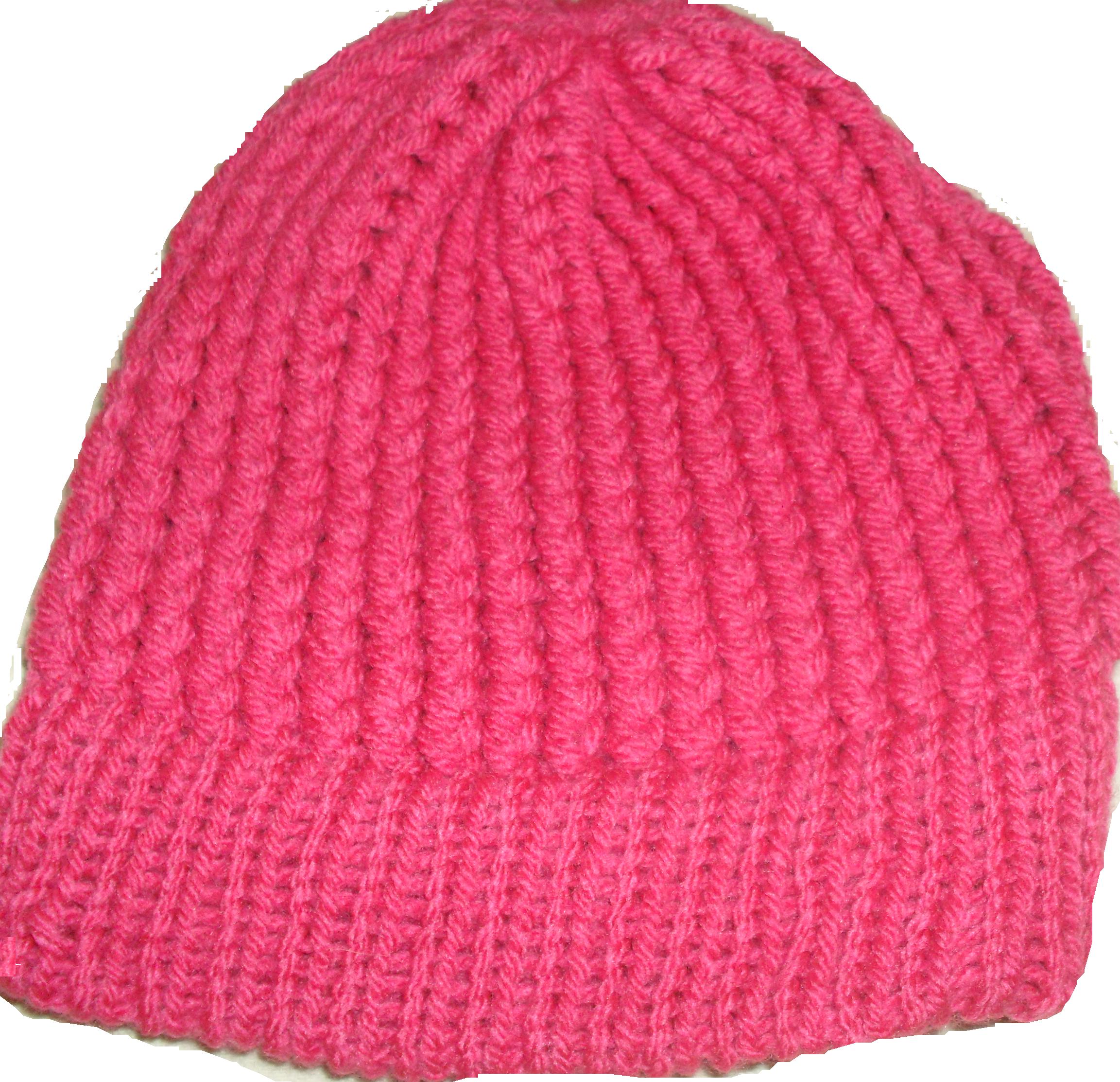 Touca pink em tear de tricô  dd1dd5803c4