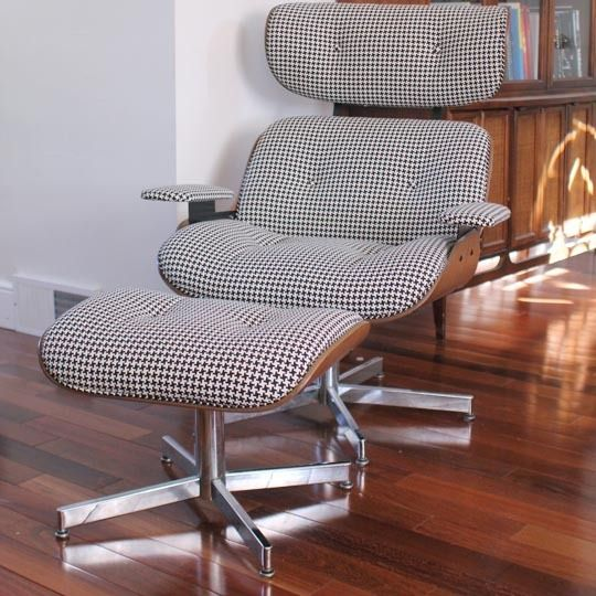 Apartment Therapy Houndstooth On A Totally Faux Eames Recliner