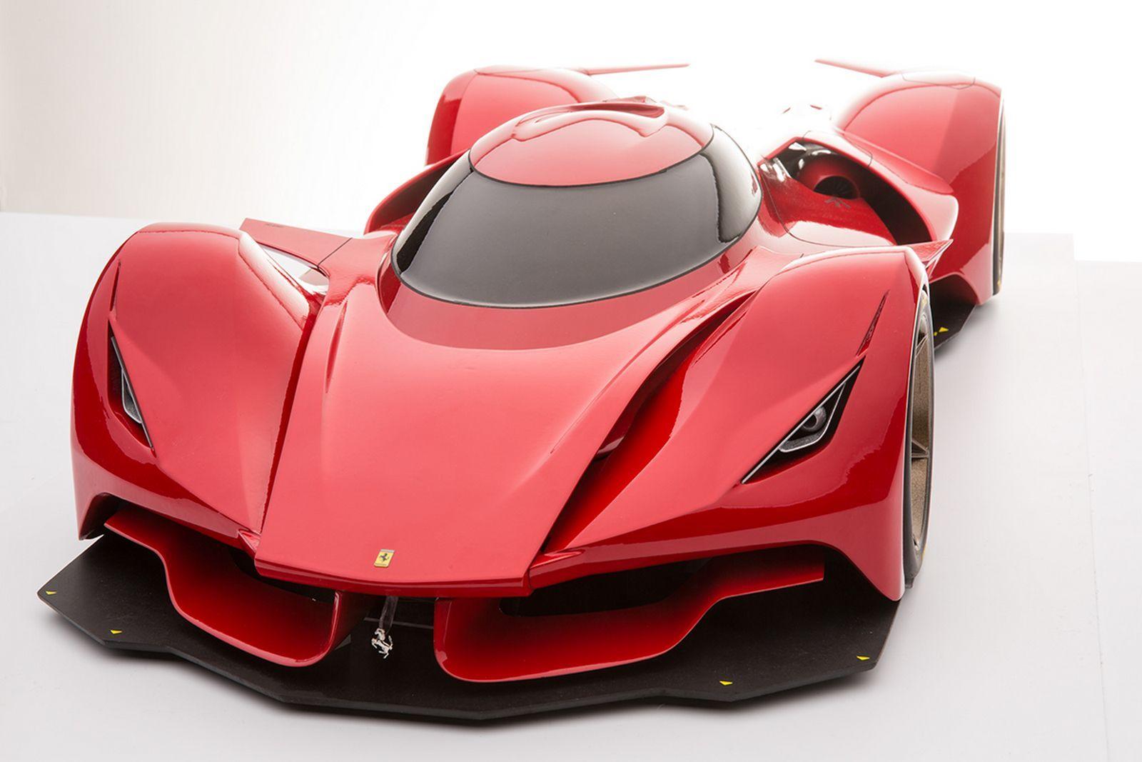 Futuristic Ferrari Le Mans Prototype Renderings Are