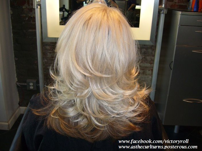 Long Layered Haircut With A Round Brush Blowout Facebook