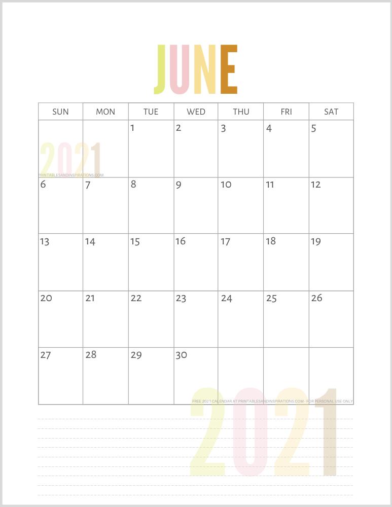List Of Free Printable 2021 Calendar PDF - Printables and ...