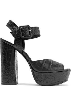 ALICE+OLIVIA Lily -Print Fur Platform Sandals aea63fVN