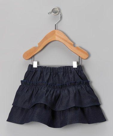 Another great find on #zulily! Denim Tiered Ruffle Skirt - Infant, Toddler & Girls #zulilyfinds