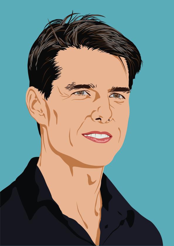 Tom Cruise Adobe Illustrator