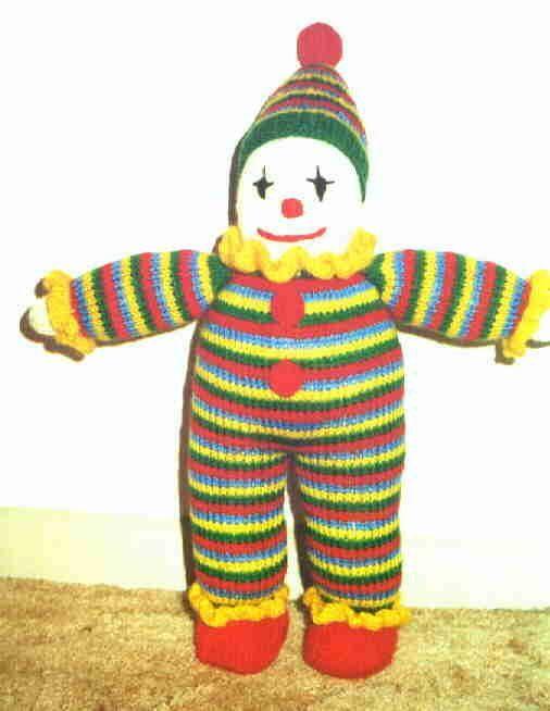 Clown Free Knitting Pattern Free Pattern Pinterest Knit