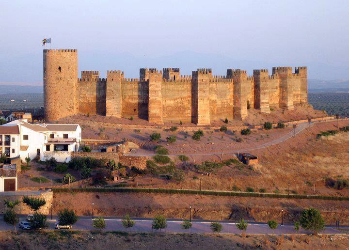 Castles Of Spain Burgalimar Castle Jaen In The 11th Century