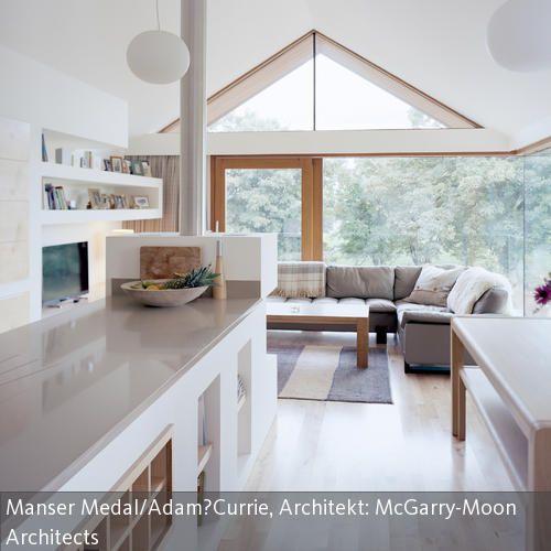 theke in der wohnk che offene k che wohnk che und theken. Black Bedroom Furniture Sets. Home Design Ideas