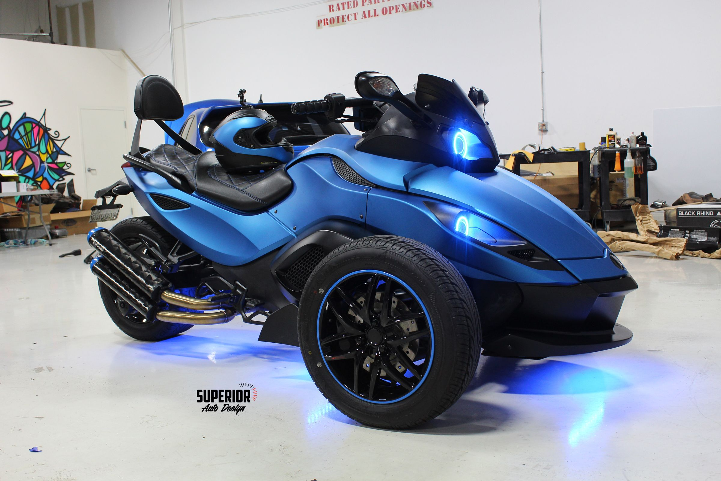 Can Am Spyder Custom Wrap Lights Paint Wheels And Seat Can Am