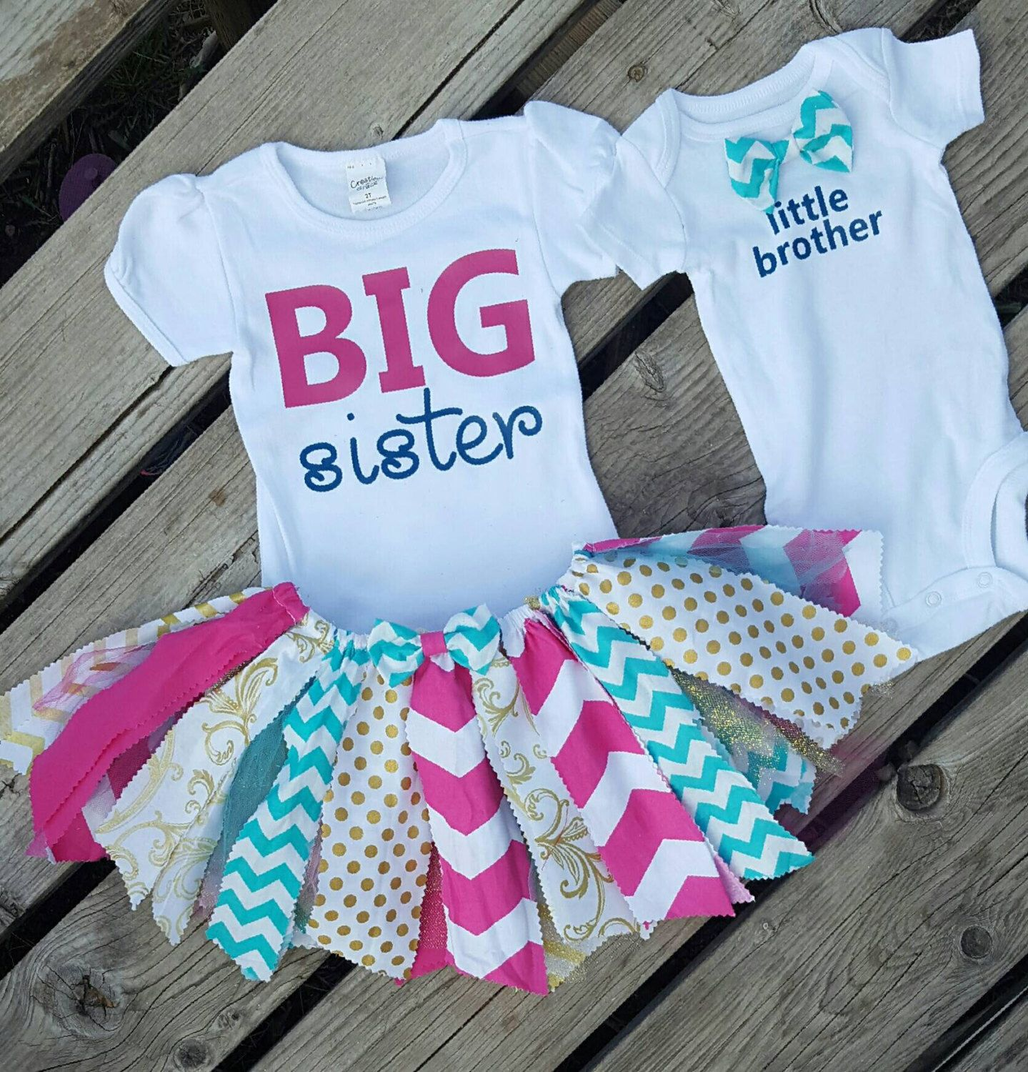 40fd3e152b13 Coordinating sibling outfits!! Big sister little brother outfits!! by MyMPB  on Etsy