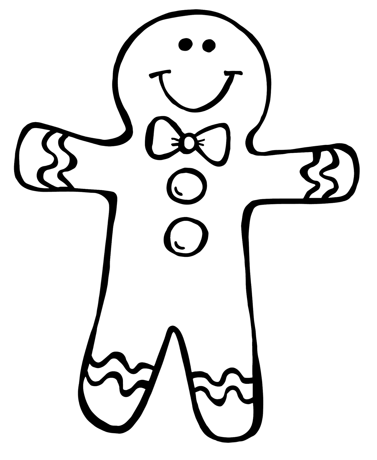 afbeeldingsresultaat voor gingerbread girl coloring pages - Gingerbread Girl Coloring Page