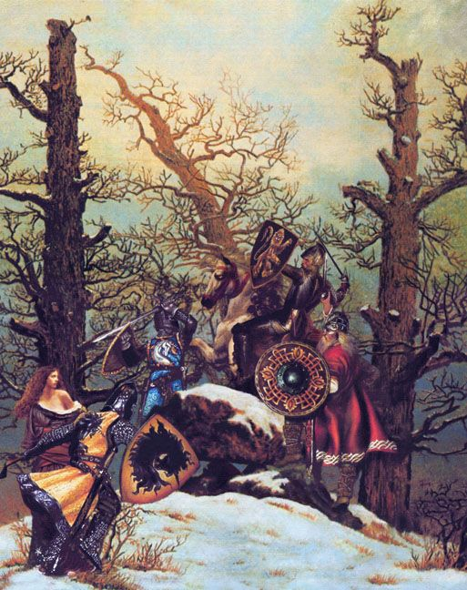 No Collection Of Art Work Devoted To The Legends Of King Arthur Would Be Complete Without A Damsel In Distress Or A Vill Arthurian King Arthur Arthurian Legend