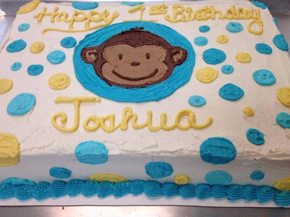 Happy Birthday Joshua Curious George Half Sheet Cake James