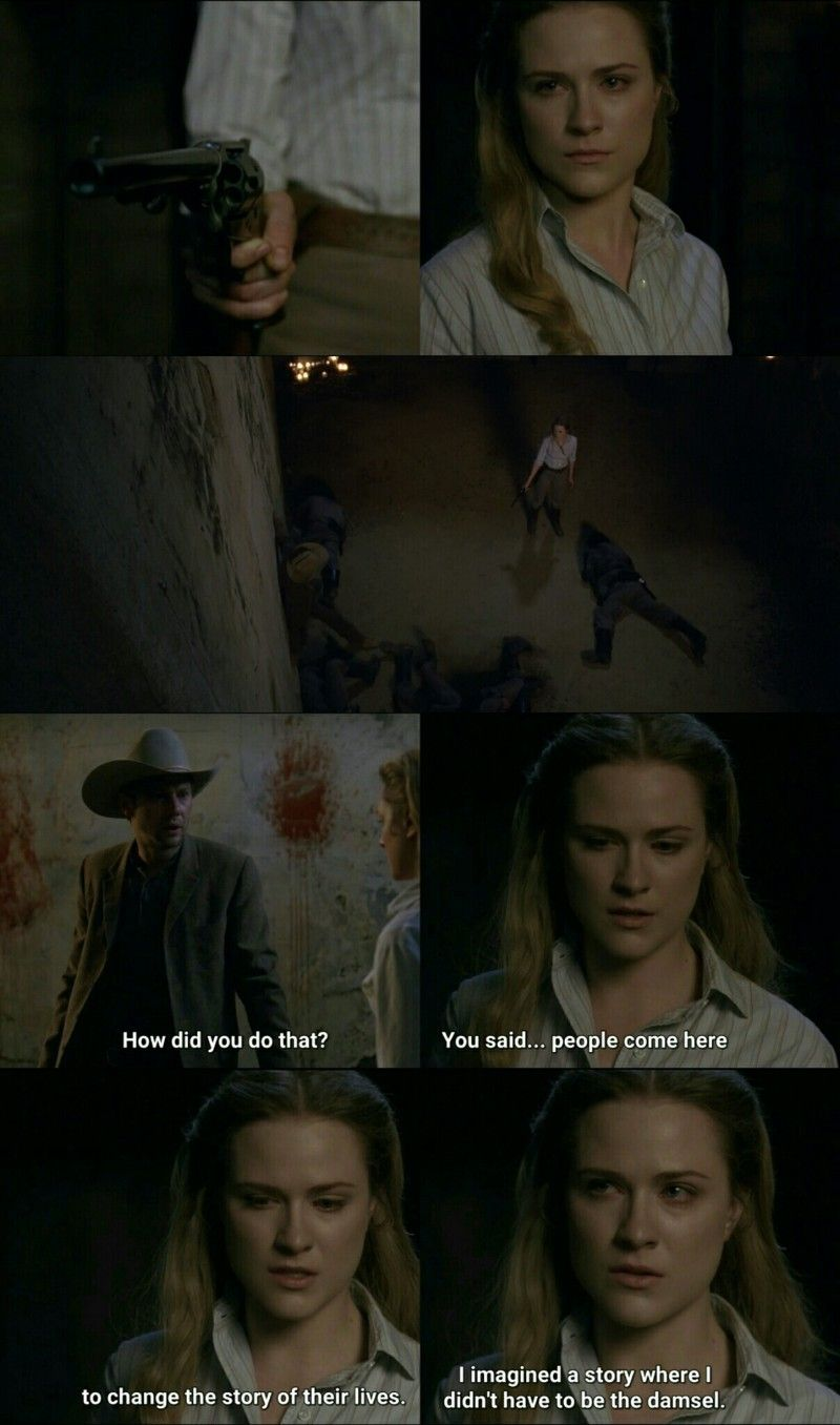 """""""You said... people come here to change the story of their lives. I imagined a story where I didn't have to be the damsel"""" - Dolores and William #Westworld"""