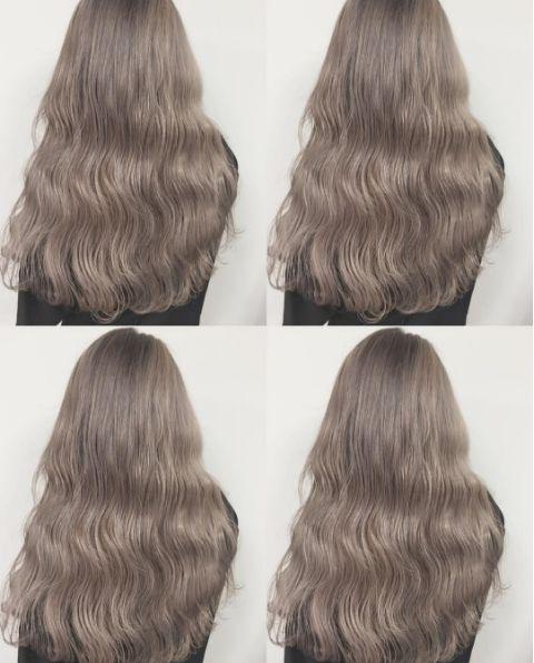 Màu tóc bà ngoại xám bạc xưa rồi, 2017 là phải nhuộm tóc màu nâu