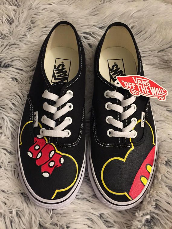 2e44503924056c These customized Mickey   Minnie VANS are made to order! Shoes included.  They are