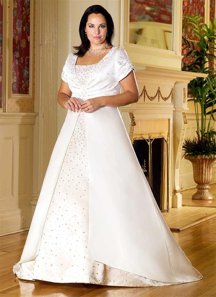 wedding dresses for plus size older brides | Newest Plus Size ...