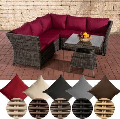 Garten Lounge-Gruppe SANTA LUCIA, 5 mm RUND-Geflecht, 2x Sofa, 1x - gartenmobel lounge rund