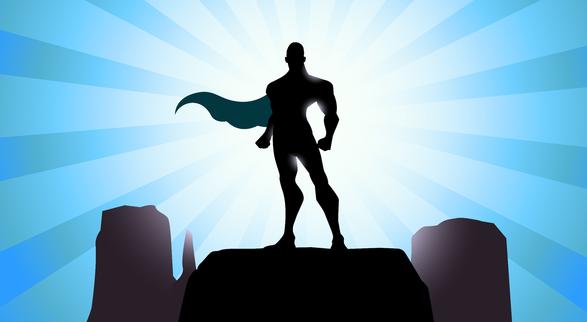 Hero silhouette