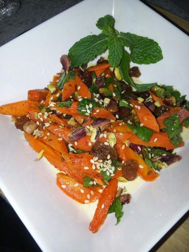 morrocan carrot salad....