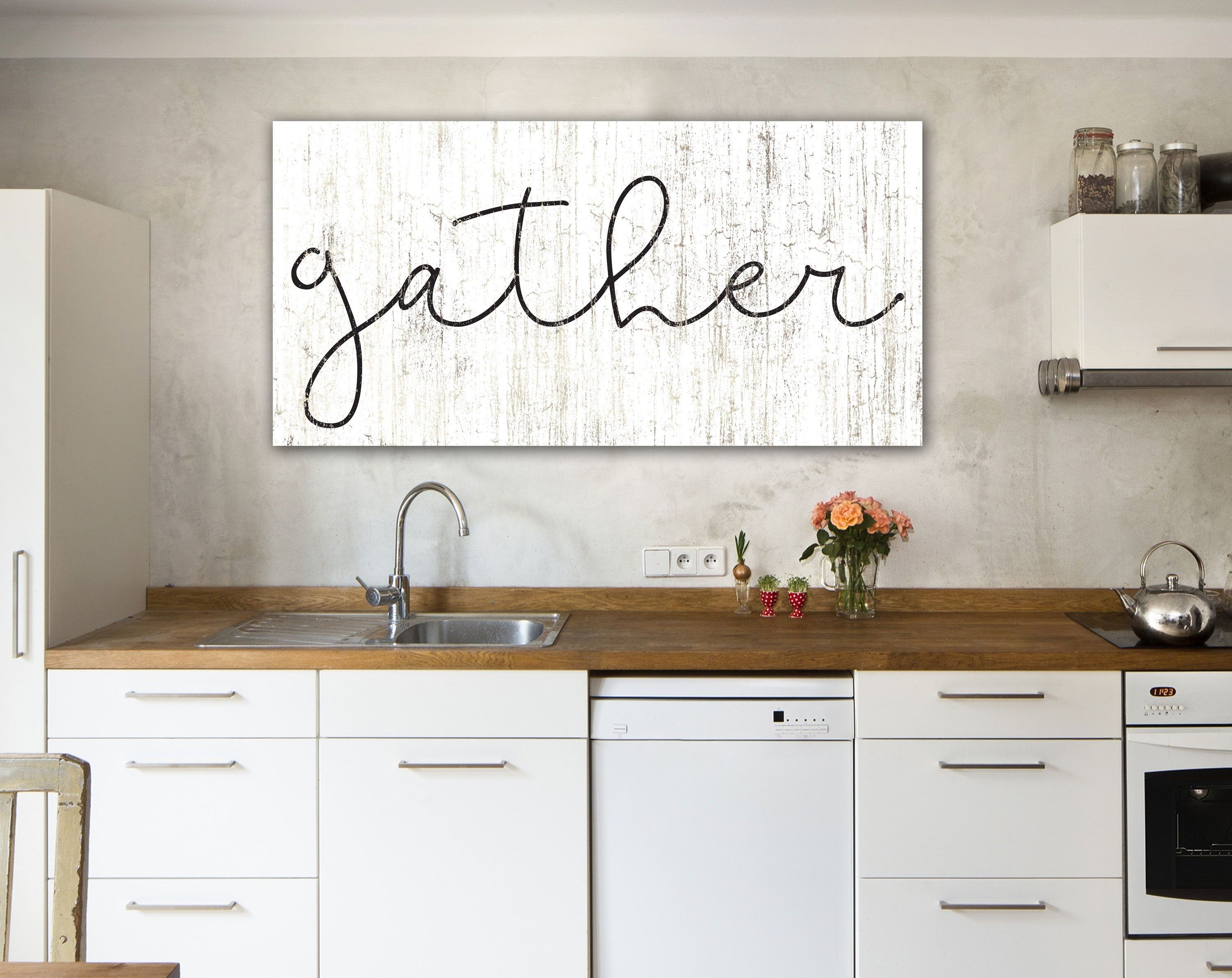 Gather Sign Dining Room Wall Art