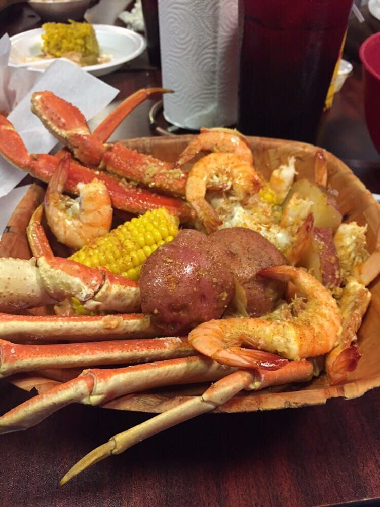Photo Of Little New Orleans Kitchen Oyster Bar Orlando Fl United States Crabs Shrimp Potatoes And Corn So Gooood Oyster Bar Oysters Foodie