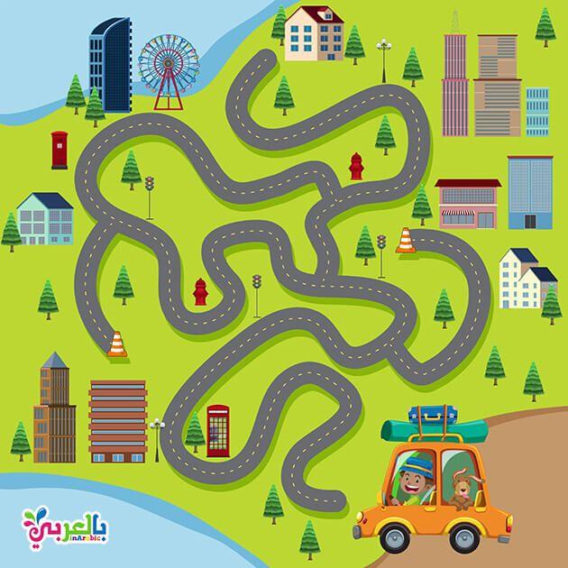 العاب المتاهات للاطفال متاهات للاطفال ملونه اوراق عمل متاهات للاطفال بالعربي نتعلم Board Game Template Board Games Jigsaw Puzzles For Kids