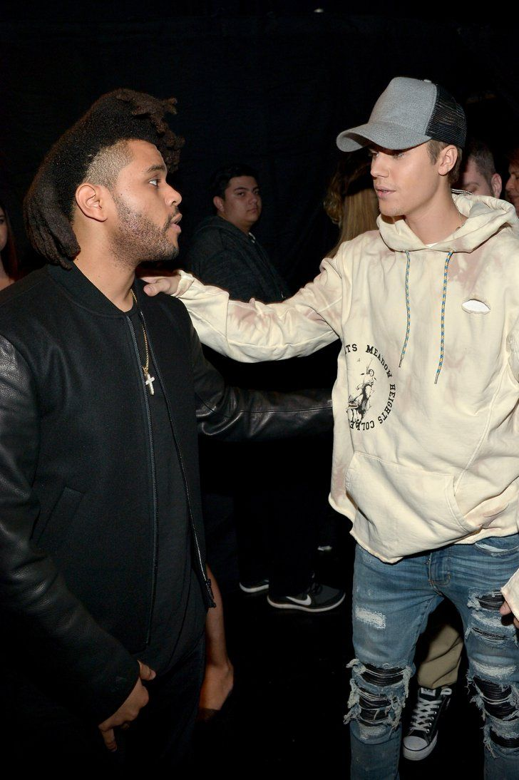 Justin Bieber Having A Moment With The Weeknd The Weeknd Justin