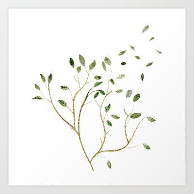 little tree Art Print by annemiek groenhout - $17.68