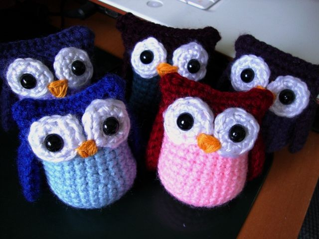 Crocheted Amigurumi Owl, stuffed owl, toy owl, Aqua and Pink Owl ... | 480x640