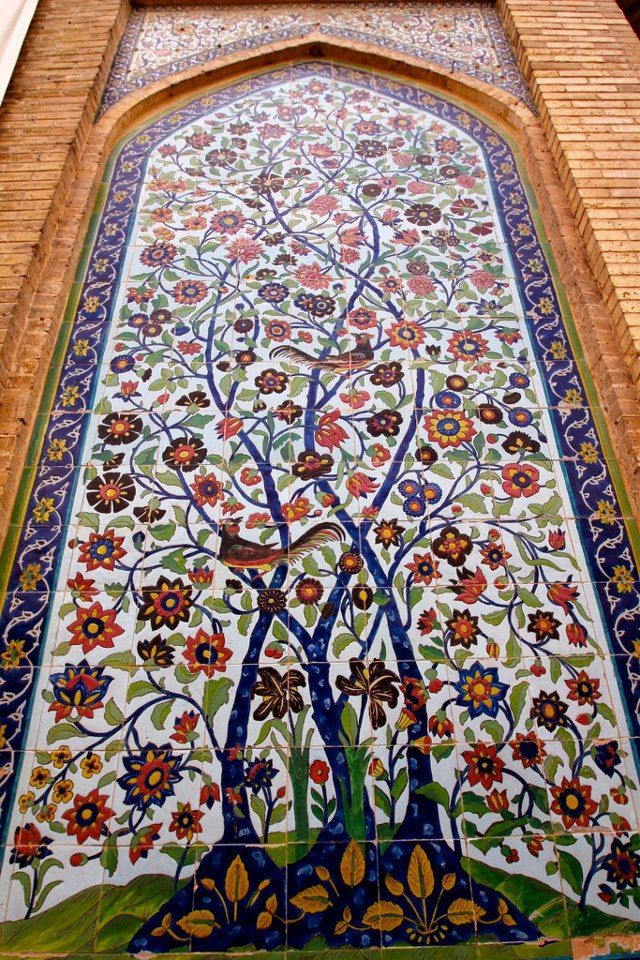 Vakil Mosque Tree Of Life Shiraz Iran Persian Architecture