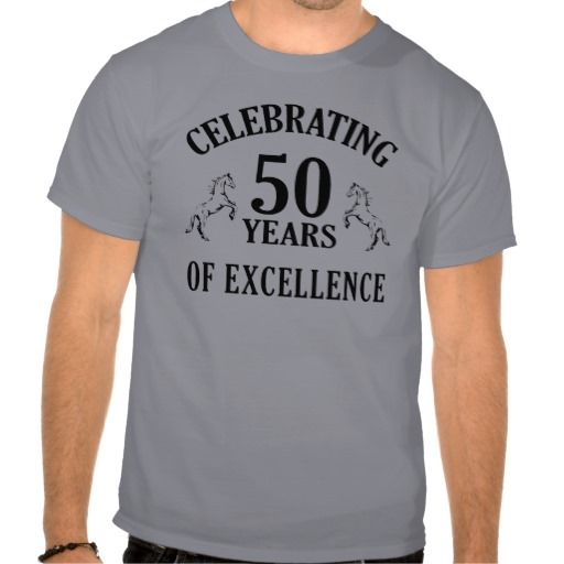 50th Birthday T Shirt For Men That Says Celebrating 50 Years Of Excellence The Perfect Gag Gift Him