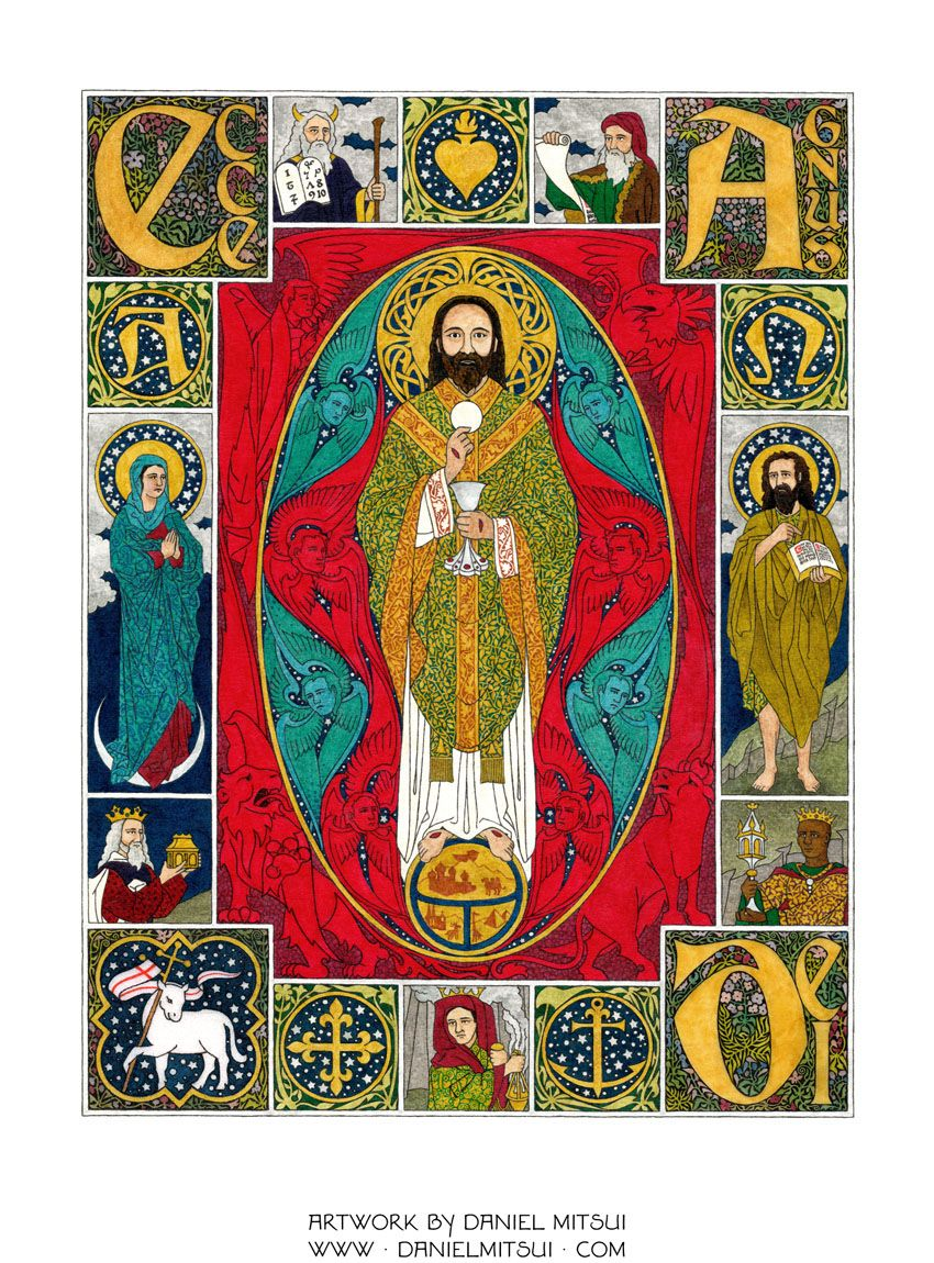 Contemporary catholic artist using medieval themes and motifs he contemporary catholic artist using medieval themes and motifs he explains all of his symbolism under each image students will love learning to biocorpaavc Image collections