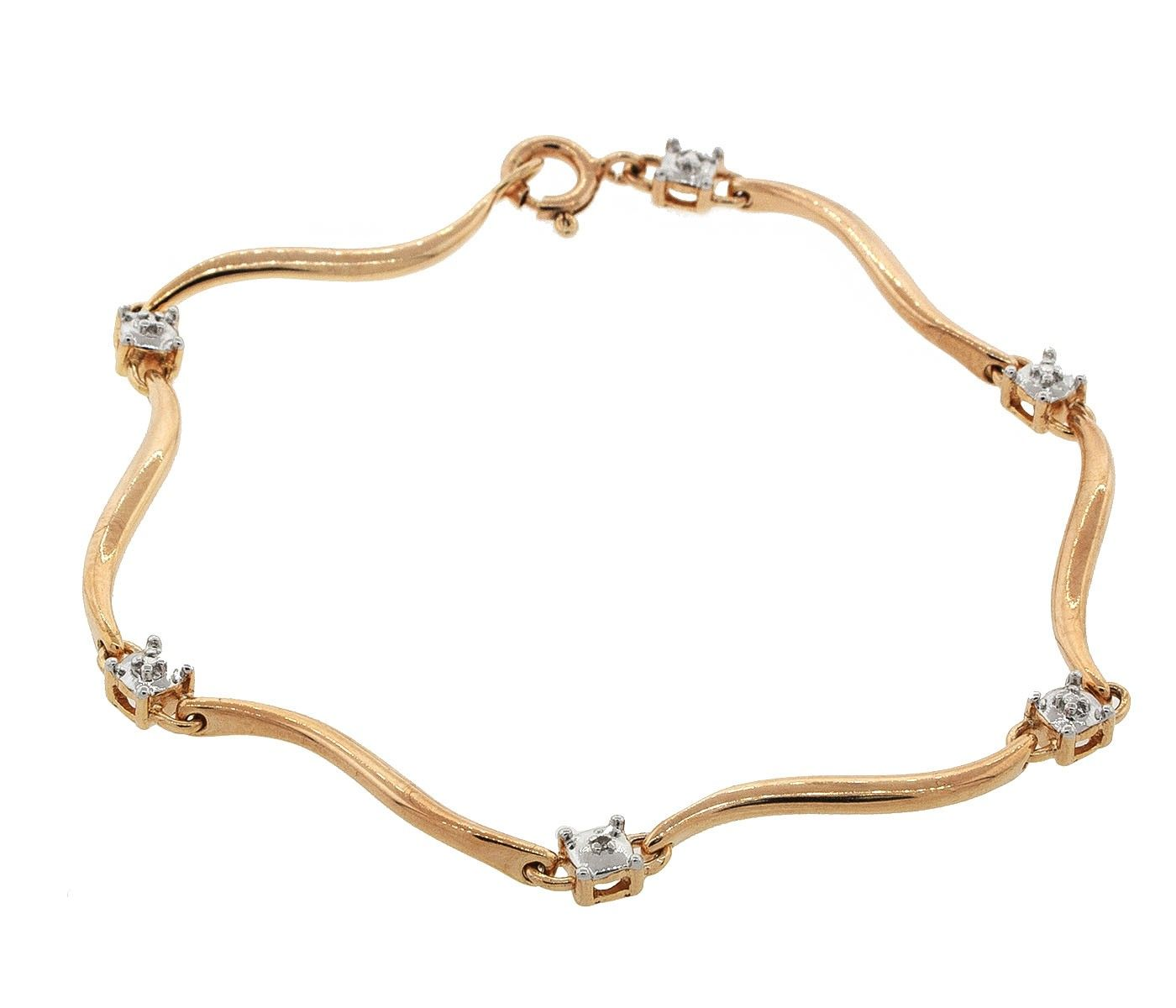 K gold ptd sterling silver diamond accent tennis bracelet