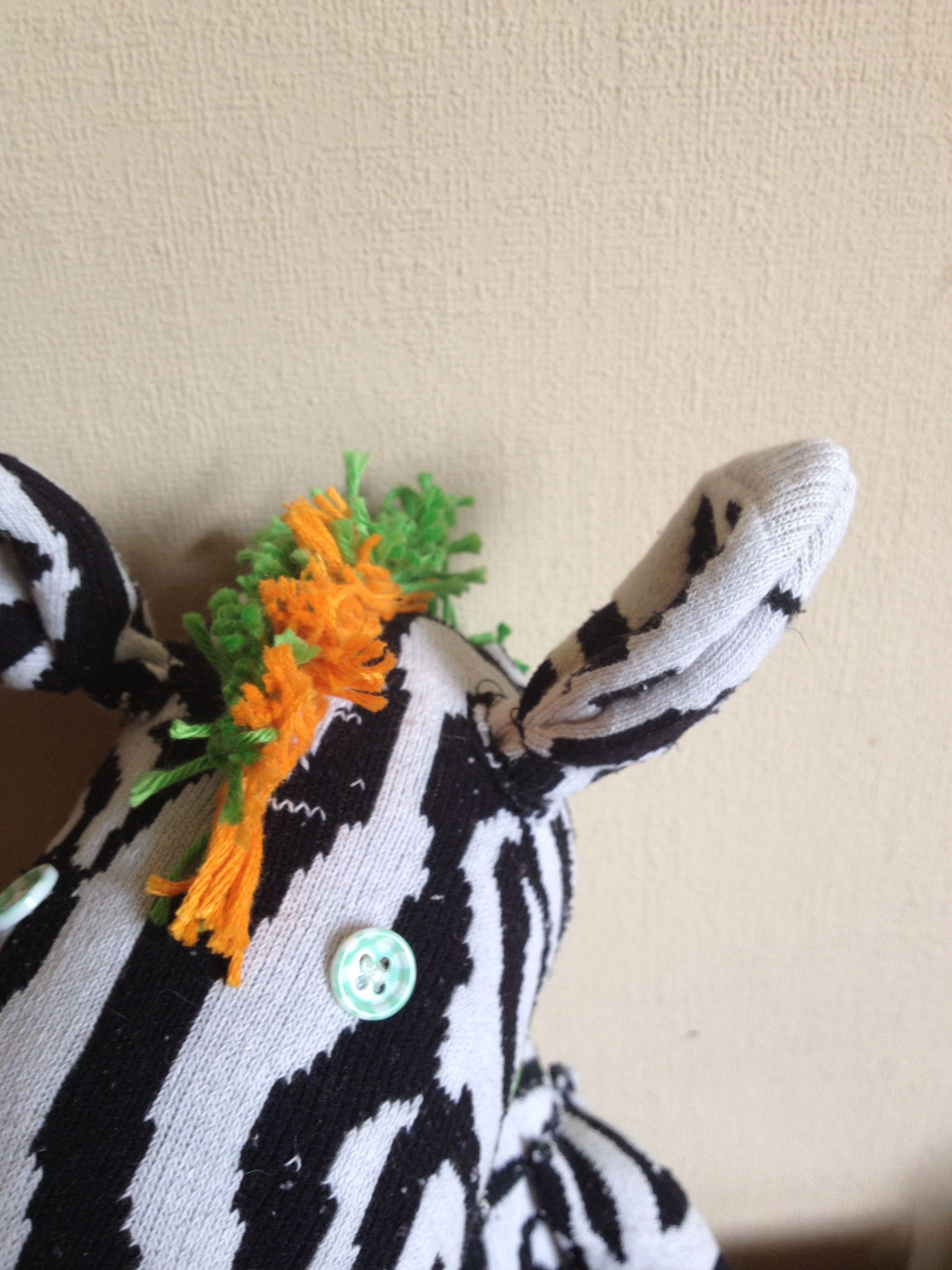 Punk Zebra Zebedee - #sockcreature
