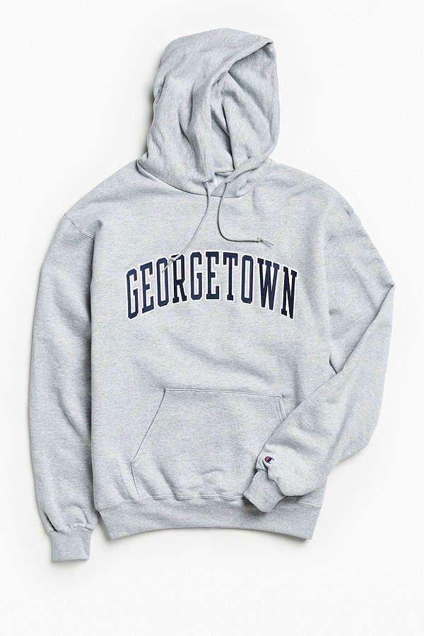 Champion Georgetown University Eco Fleece Hoodie Sweatshirt