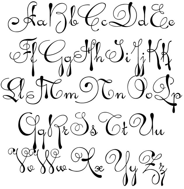Fancy Script Alphabet Uppercase And Lowercase Gillian Personalized