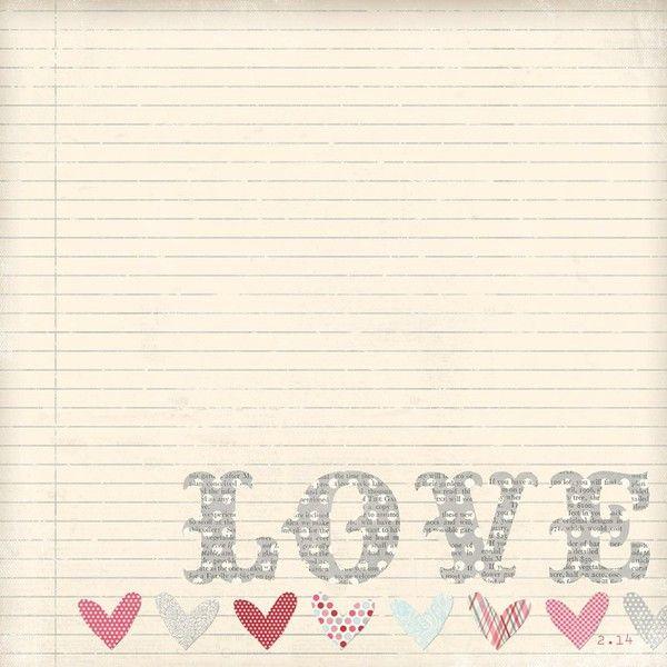 Love Me 12X12 Paper
