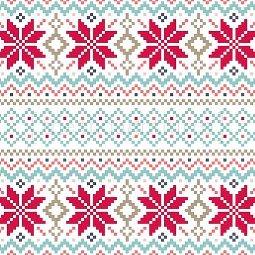 Christmas Fair Isle Knitting Pattern   Christmas fair isle ...