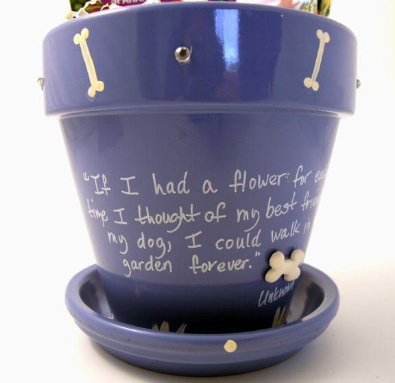 Loss of Dog Sympathy Flower Pot Gift | Done | Pinterest | Sympathy ...