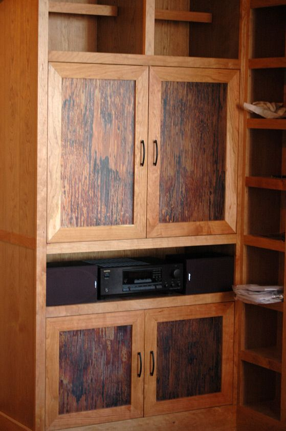 Patina Copper Inlay On Cabinets Home Kitchen Copper