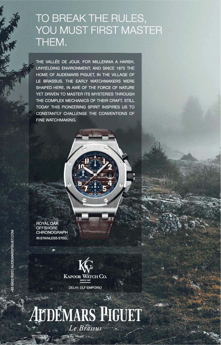 Audemars Piguet Le Brassus Ad Times Of India Delhi Https Www Advertgallery Com Product Tag Watches Advertisement Collection Audemars Piguet Watch Ad Ads