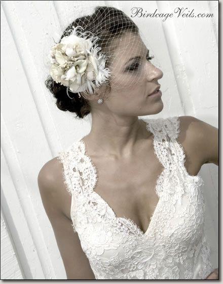 Bridal Hair Diy Birdcage Veil