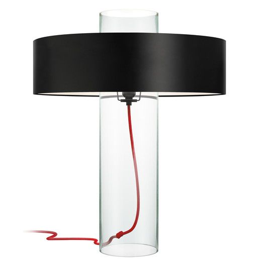 Sonneman Level 24 H Table Lamp With Drum Shade Black Table Lamps Glass Table Lamp Modern Table Lamp