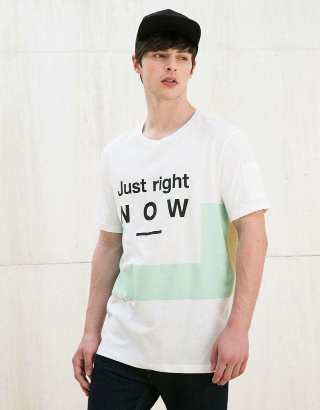 Los camisetas de hombre más de moda de SS 16 en Bershka. Camisetas largas,